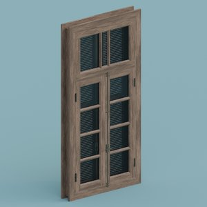 blender window model