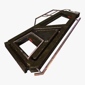 3D wing frame model