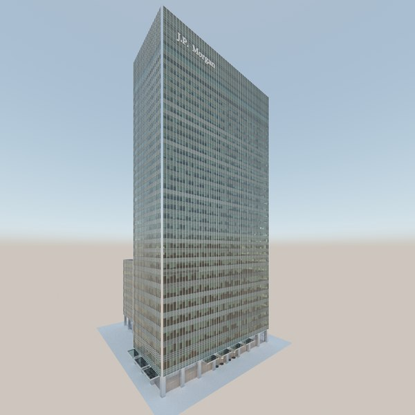 3D jpmorgan building canary wharf model