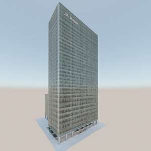 3D jpmorgan building canary wharf model