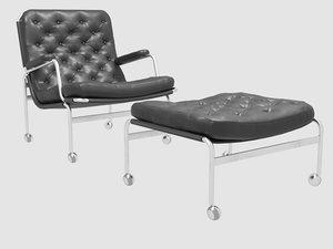 3D karin easy chair ottoman