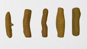 turmeric root 3D