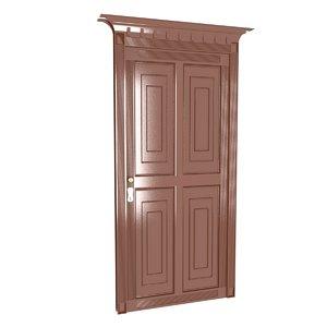 3D 4 panel door