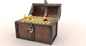 treasure chest gold 3D model