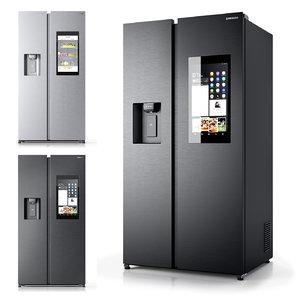 3D model smart refrigerator samsung family