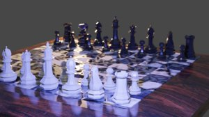 3D realistic chess board model