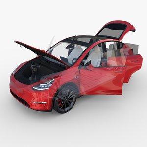 tesla y awd chassis model