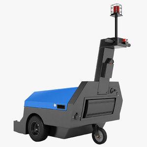 electric shopping cart 3D