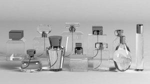 3D model glass perfume bottles 11