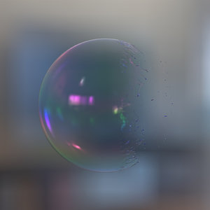 soap bubble burst 3D model