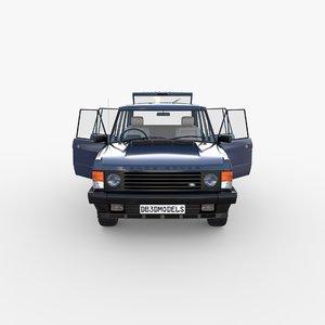 rover range rhd interior 3D model