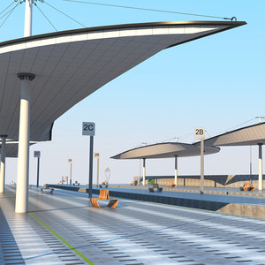 station rail model