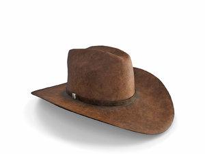 realistic cowboy hat 3D model