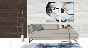 3D model interior furnishings sofa