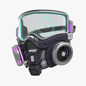 cyberpunk gas mask gasmask model
