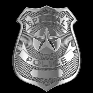 3D model police badge nypd