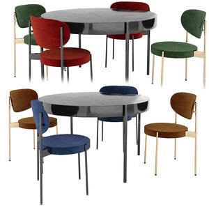 verpan series 430 table chair model