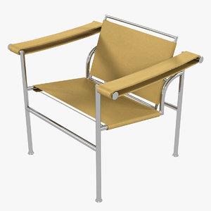 3D minimalist le corbusier lc1