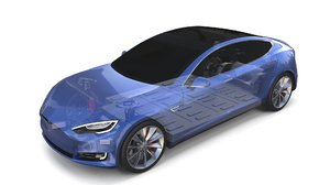 tesla s chassis 3D model