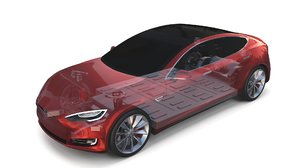 tesla s chassis 3D