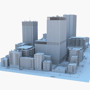 3D model city tree