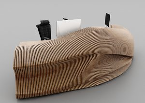 parametric reception tebal 3D model