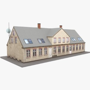 3D model european building 14