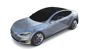 3D tesla s chassis model