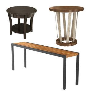 3D 3 tables model
