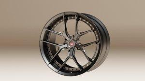 3D rim wheel vehicle model