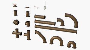 3D model modular pipes