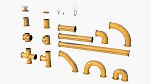 modular pipes 3D