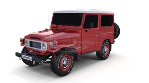 3D toyota land cruiser chassis