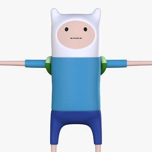 finn character 3D