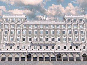 palazzo stratti building 3D model