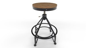 stool adjustable bar 3D model