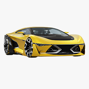 3D futuristic sport coupe