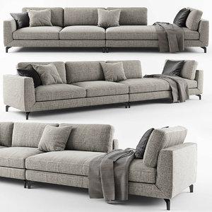carre sofa calligaris 3D
