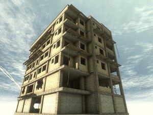 3D construction building modular model