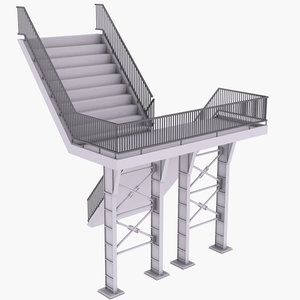 staircase industrial 3D model