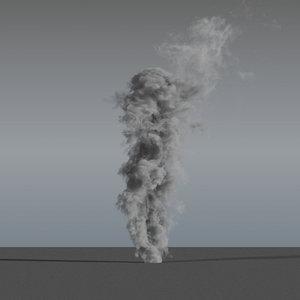3D smoke rising 10 - model