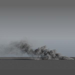 3D smoke rising - vdb model