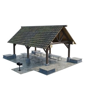 large picnic shed model