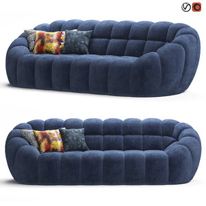 perspective roche bobois sofa 3D