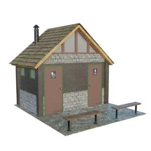 3D park toilet