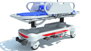 ambulance patient transfer stretcher 3D model