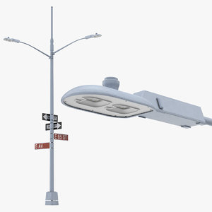 street post led lamps 3D model