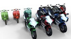 3D motorcycle pack
