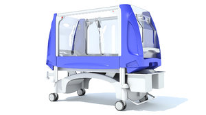 3D pediatric medical hospital bed