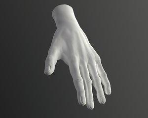 male hand 3D model